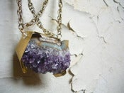 Image of No.15 Double Chain Amethyst Necklace