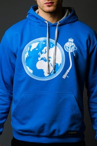 Image of TURNTABLIST ON TOUR <br>Headphone Hoodie <br><i> by DJ Angelo</i>