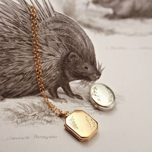 Image of leaf engraved locket