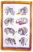 Image of Tea towel - naughty wombats