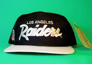 Image of SOLD OUT**The Grail** TISA Los Angeles Raiders Script Sports Specialties Snapback Hat