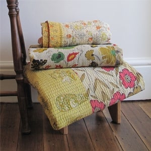 Image of Orange / Yellow Double Vintage Throw