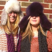 Image of fox fur trapper hats