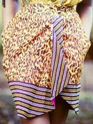 Image of 'WAKA MOTO' ANIMAL WRAP SKIRT