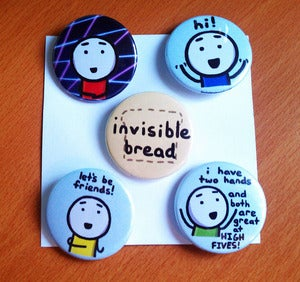 Image of Buttons - Set of Five