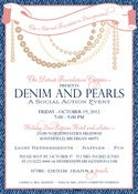 Image of Denim &amp; Pearls Invitation