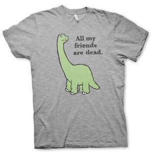 Image of NEW! All My Friends Are Dead Heather Grey Shirt