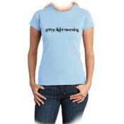 Image of Green Light Morning - Girl T-shirt - Sky Blue