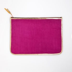 Image of LARGE CLUTCH - Fuchsia & Gold