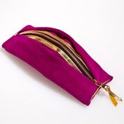 Image of MINI NECESSAIRE -Fuchsia & Gold