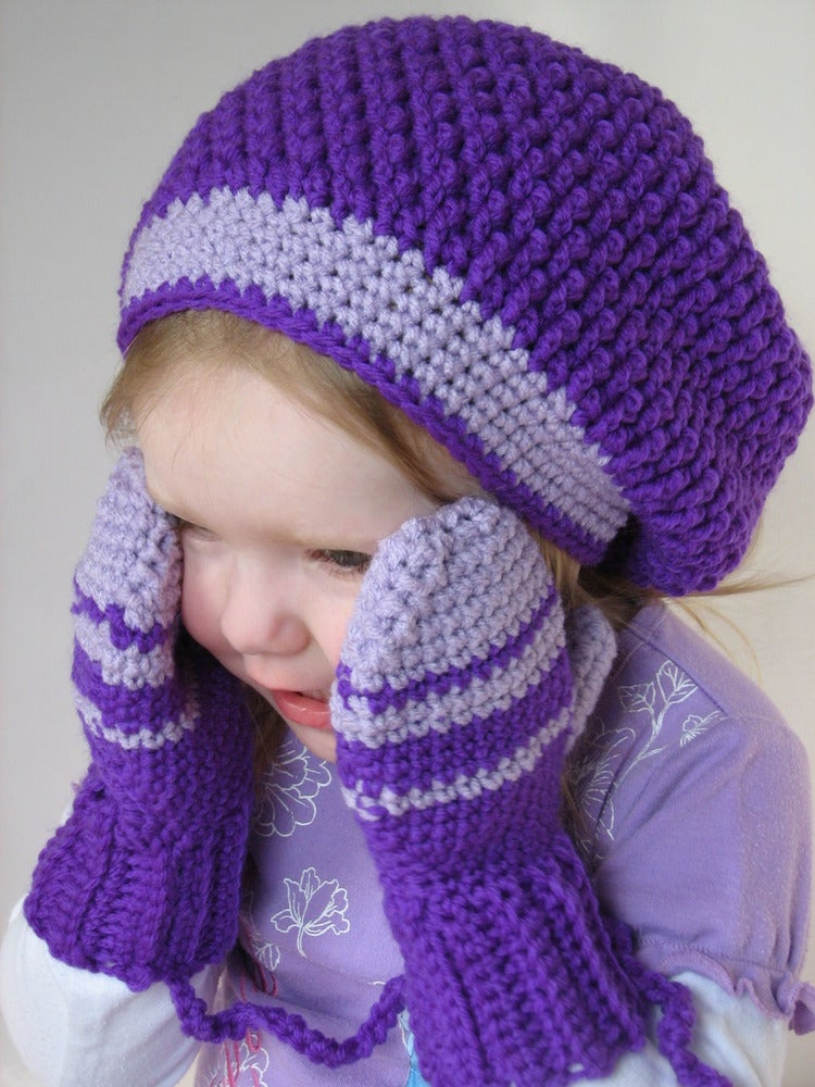 Free Crochet Pattern Ladies Mittens : Winter Patterns Hats Mittens Scarves Sweaters Slippers ...