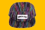 Image of Orchard 5 Panel Hat - Black Ikat Text Logo