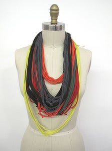 Image of Reclaimed T-shirt Necklace :::Plain T-LACE