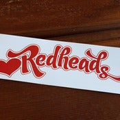 Image of Love Redheads Sticker