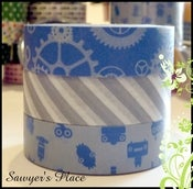 Image of Titus Collection 3 Set Washi Tape - Japanese Masking Tape - 3 rolls - 15mm x 15m