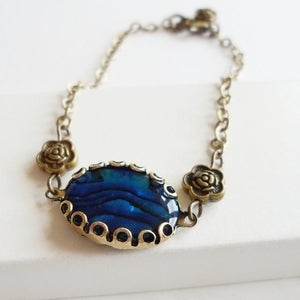 Image of Decadence Bracelet (Blue shell)