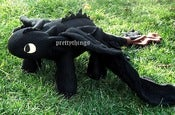 Image of How to Train Your Dragon NIGHT FURY Cute TOOTHLESS Plush Toy Xmas Gift Hand Made