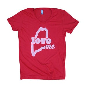 Image of LoveME T-Shirt (Womens - Red)