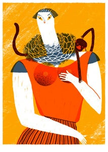 Image of Señora con Chango Screen Print