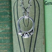 Image of Diamond Anniversary: Ring Pendant - Antique Silver