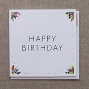 "Image of ""Geometric Border"" Birthday Card"