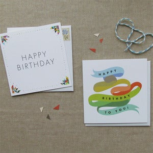 "Image of ""Birthday"" Card Set of 4"