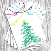 Image of Stack Christmas cards