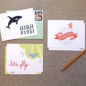 "Image of ""Flights of Fancy"" Notecard Set of 5"