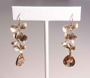 Image of Andrea Montgomery Cascading Orchid Earrings