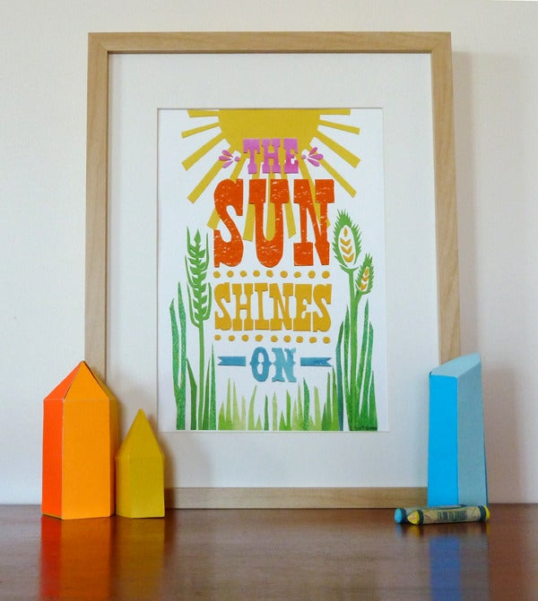 Image of The Sun Shines On A4 Print
