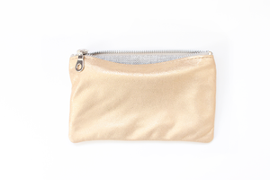 Six Point Five Inch Pencil Pouch - Gold