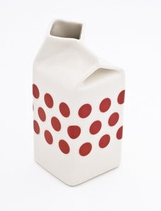 Image of Red Polkadot Milk Jug