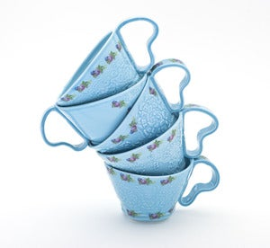 Image of Blue Lace Texture Cup