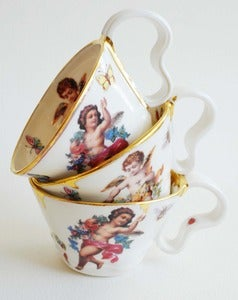 Image of Drippy Gold & Cherub Cup