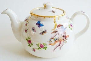 Image of Drippy Gold & Cherub Teapot
