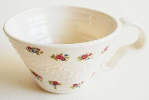 Image of White Lace Texture Cup