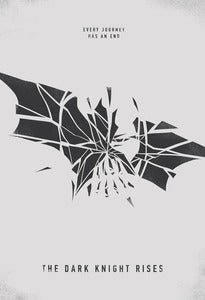 "Image of ""The Dark Knight Rises"" Minimalist Illustrated Poster"