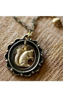 Image of Framed Squirrel Necklace