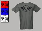 Image of Grey Detroit Wing Star T-Shirt
