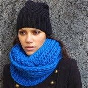 Image of Snood &quot;Forget me not&quot;, alpaga &amp; laine