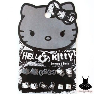 Image of HELLO KITTY SKULL AND CROSSBONES EARRING PACK