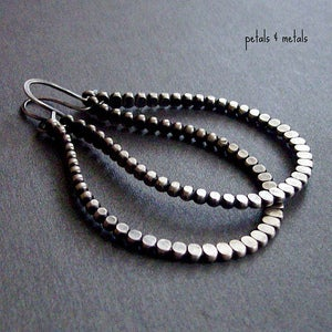 Petals & Metals  Essentials :  hoops jewelry oxidized accessories
