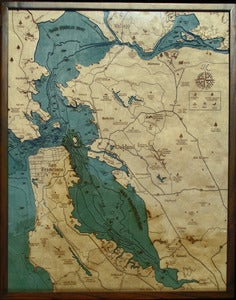 Image of SF/Bay Area, CA Wood Map