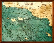 Image of Santa Barbara, CA Wood Map