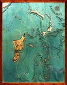 Image of Bahamas/Fort Lauderdale, FL Wood Map