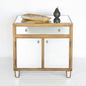Image of Marlow Gold Mirrored Cabinet