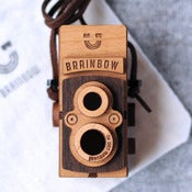 Image of Wooden Twin Lens Camera Necklace