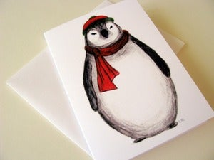 Image of Chubby Penguin Loves Winter - Everyday Greeting or Holiday Card, Single