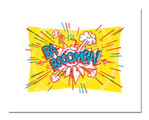 Image of BA-BOOOMBA! Poster