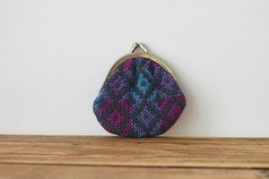 Image of small round Welsh tapestry purse